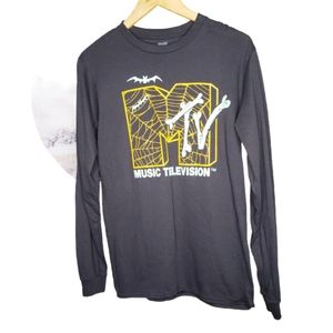 MTV Music Television Halloween Pullover Top Small